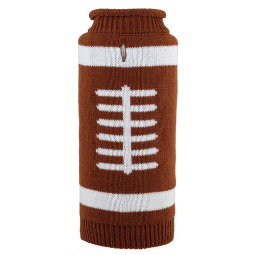 Worthy Dog Touchdown Roll Neck Dog Sweater