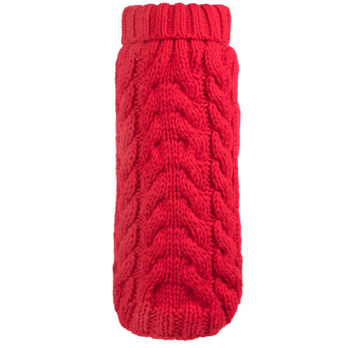 Worthy Dog Hand Knit Turtle Neck Dog Sweater | Red