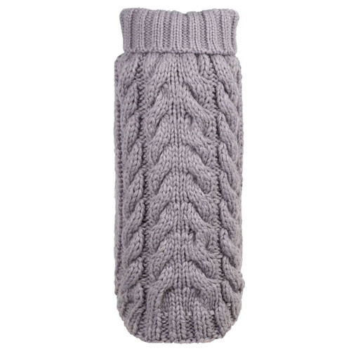 Worthy Dog Hand Knit Turtle Neck Dog Sweater | Grey