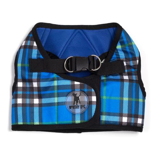 Sidekick Harness | Printed Blue Plaid