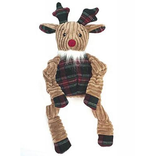 Corduroy Knottie w/ Plaid Sweater Dog Toy
