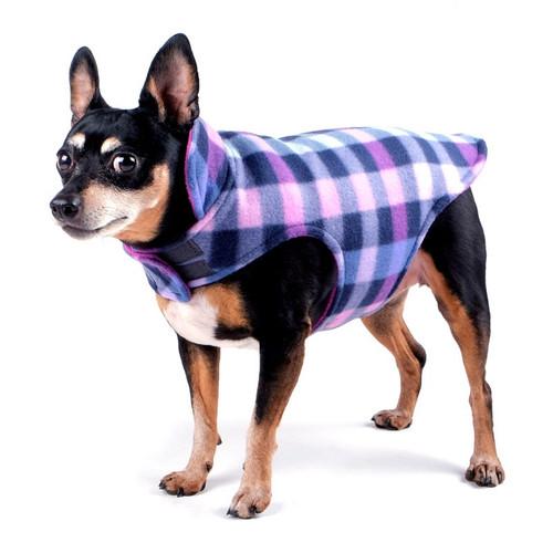 Fargo Fleece Reversible Jacket | Purple Check