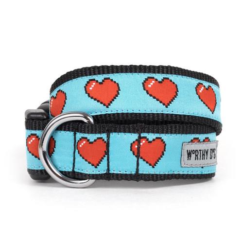 Graphic Hearts Dog Collar