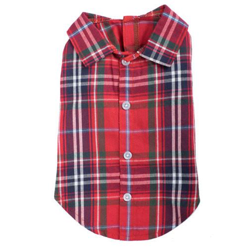 Worthy Dog Flannel Shirt | Red Plaid