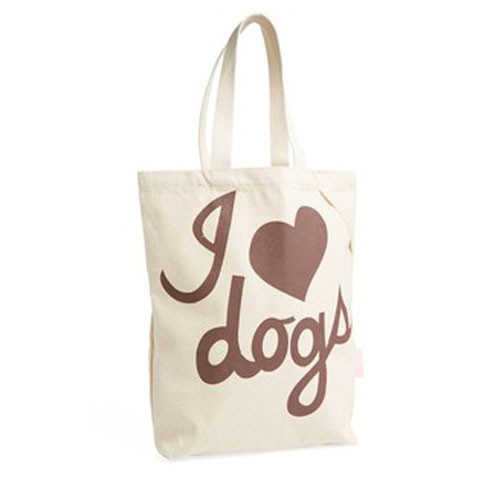 Cotton Tote | I Love Dogs | Chocolate
