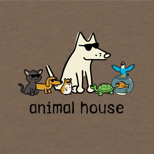 Animal House T-Shirt Heather Brown