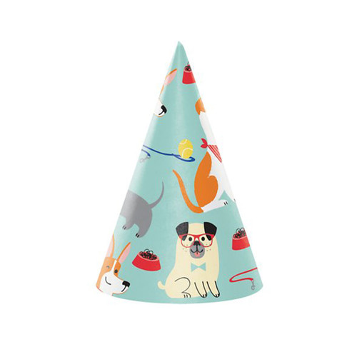 Puppy Party Dog Birthday Party Hats  | 8ct