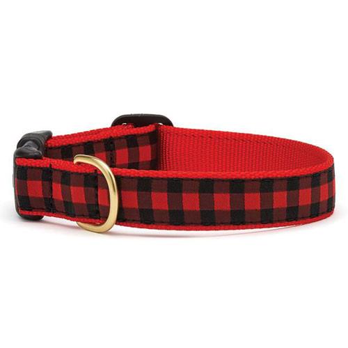 Buffalo Check Dog Collar