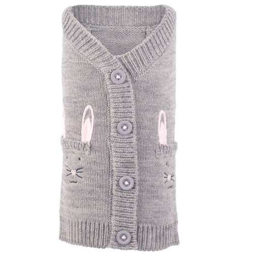 Worthy Dog Cardigan Dog Sweater | Bunny