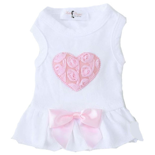Pink Puff Heart Dog Dress