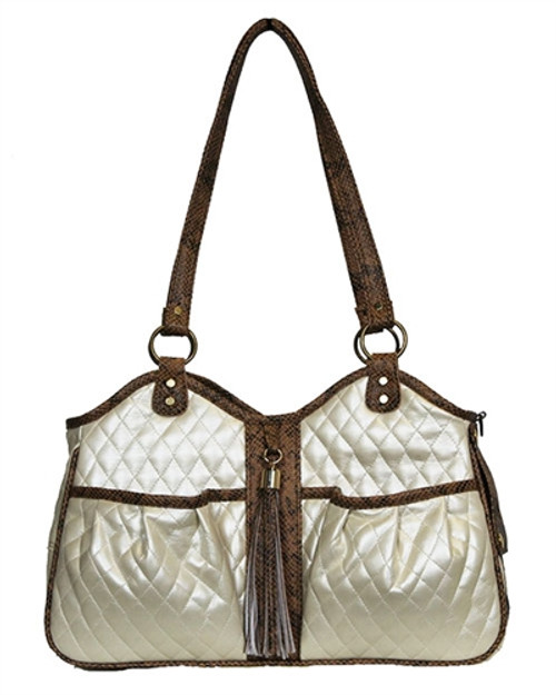7dfa6791ea Quilted Luxe Metro Pet Carrier Ivory