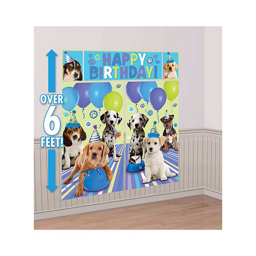 Party Pups Dog Birthday Wall Decorating Kit