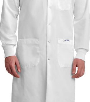 L507 white cuffed lab coat
