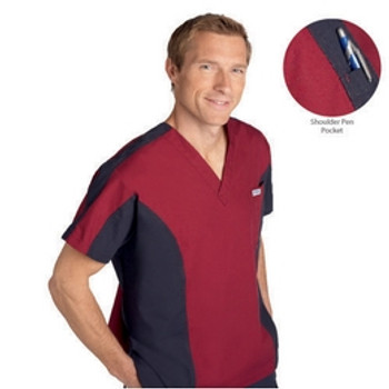 409T - Men Two Tone Scrub Top