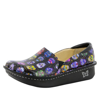Alegria Debra Shoe in Sugar Skulls