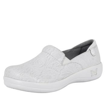 Alegria Keli Shoe in White Tooled