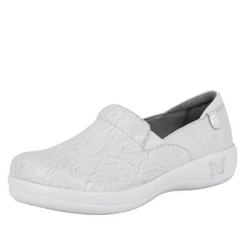 Alegria Keli Shoe in White Tooled