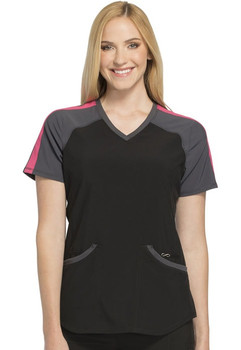 Infinity by Cherokee Colorblock V-Neck Top (CK690)