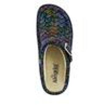 alegria Seville Ric Rack Rainbow Clog shoe