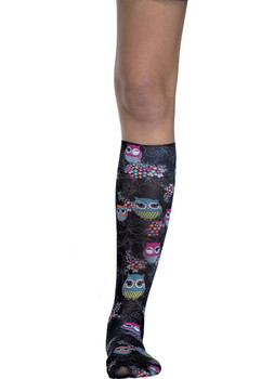 Knee Highs 12 mmHg Compression in Too Cute To Hoot