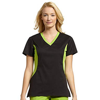 Clearance White Cross Scrubs Allure STRETCH Two Tone Top