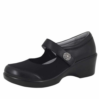 Clearance Alegria Maya Shoe in Black Nappa (MAY-601)