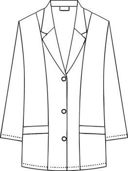 Half Length Fitted Lab Coat Raw