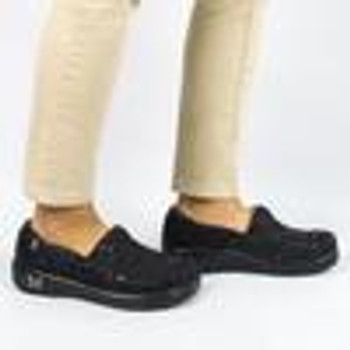 Alegria Keli Black Embossed Paisley Professional Shoe