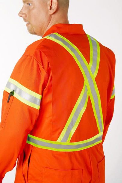 Reflective Coverall Back