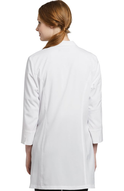 Women's Zip Up 3/4 Sleeve Lab Coat (2417)