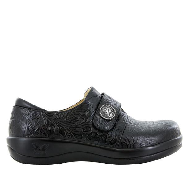 Alegria Joleen Shoe in Tar Tooled