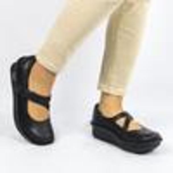 Alegria Dayna Black Nappa Professional Shoe