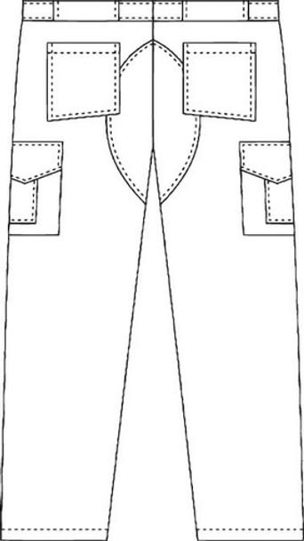 Mobb 409 - Men Cargo Pants Back