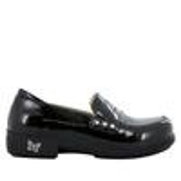 Taylor Black Waxy Shoe side