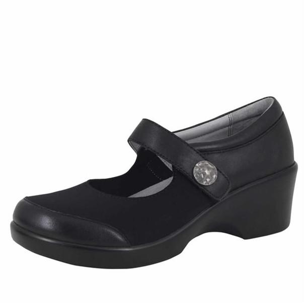 Clearance Alegria Maya Shoe in Black Nappa (MAY-601)