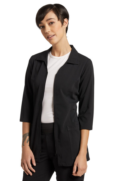 2819 Black zipper coat