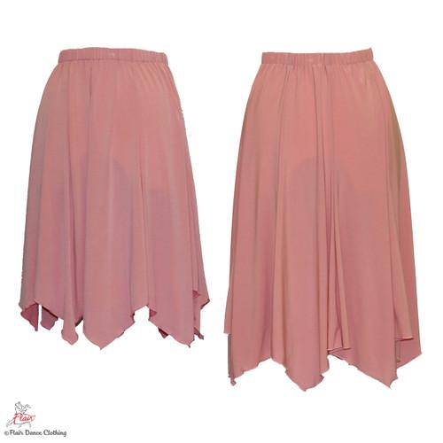 Soft Pink - solid Hanky Hem Skirt
