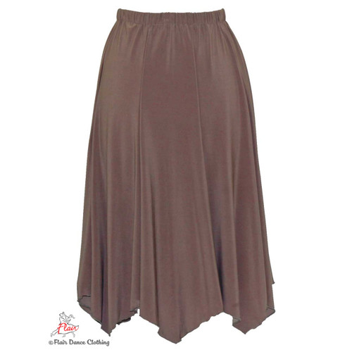 Taupe - solid Hanky Hem Skirt