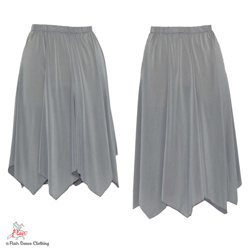 Grey - solid Hanky Hem Skirt