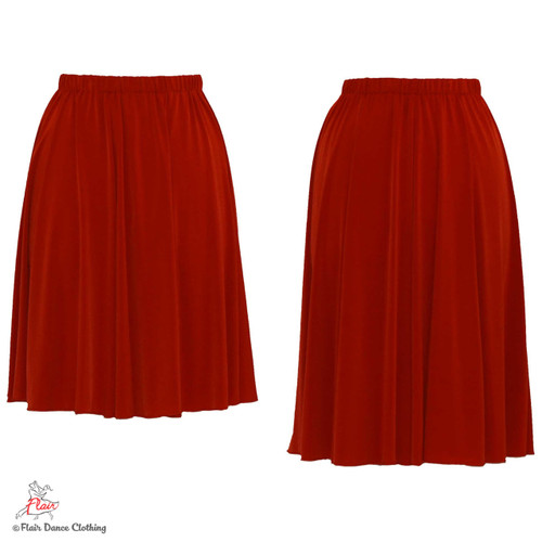 Rust - solid Ronde Skirt