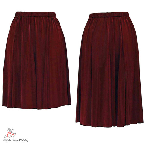 Burgundy - solid Ronde Skirt