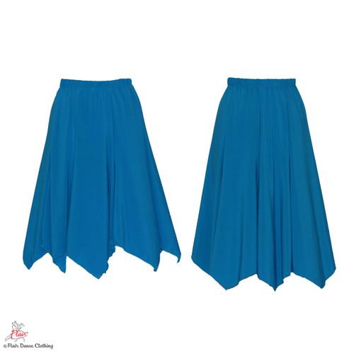 Turquoise - solid Hanky Hem Skirt