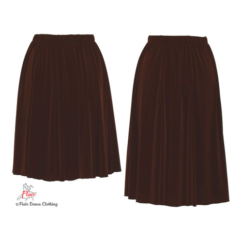 Brown - solid Ronde Skirt