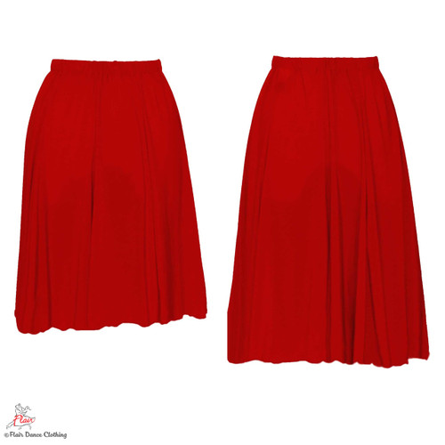 Red - solid Ronde Skirt