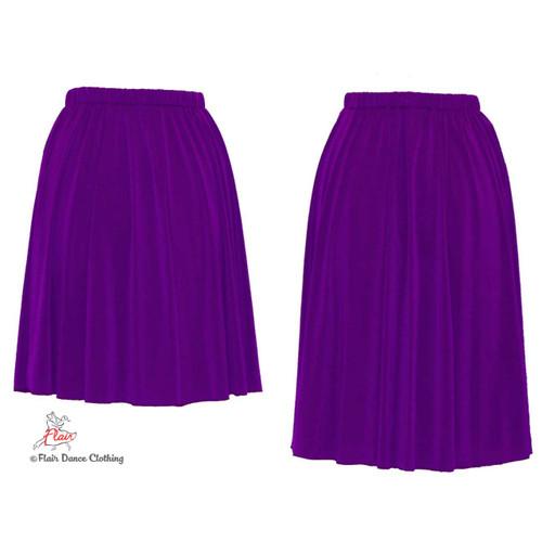 Purple - solid Ronde Skirt