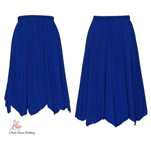 Royal Blue - solid Hanky Hem Skirt