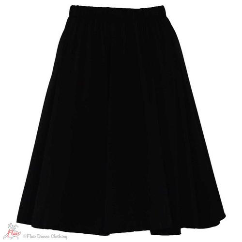 Black - solid Ronde Skirt