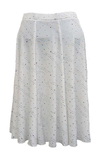 White with Sequins Ronde Skirt