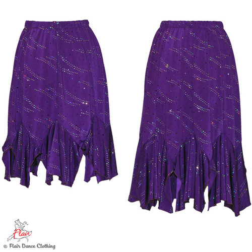 Purple with Sequins Tango Skirt