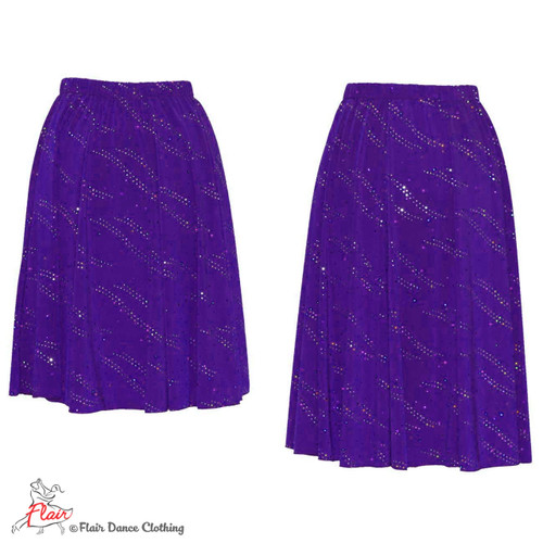 Purple with Sequins Ronde Skirt